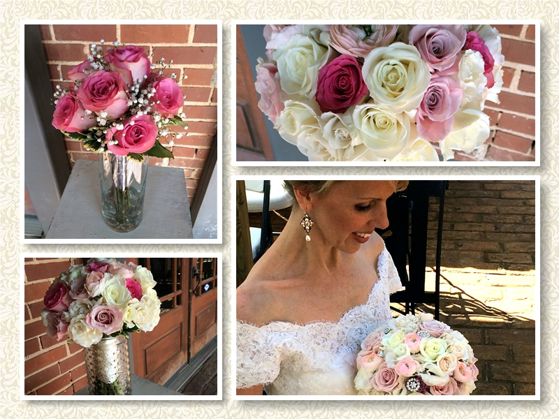 Blush and Pastel Roses Wedding Bouquets